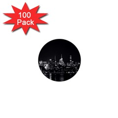 New York Skyline 1  Mini Buttons (100 Pack)