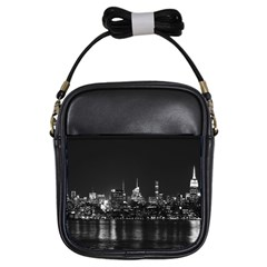 New York Skyline Girls Sling Bags by Celenk