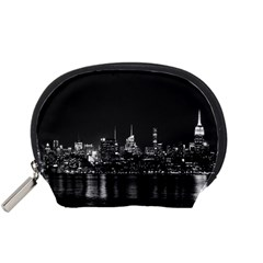New York Skyline Accessory Pouches (small)  by Celenk
