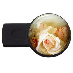 Roses Vintage Playful Romantic Usb Flash Drive Round (2 Gb) by Celenk