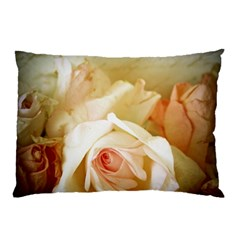 Roses Vintage Playful Romantic Pillow Case by Celenk