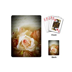 Roses Vintage Playful Romantic Playing Cards (mini)  by Celenk