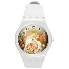 Roses Vintage Playful Romantic Round Plastic Sport Watch (m) by Celenk