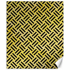 Woven2 Black Marble & Yellow Watercolor Canvas 8  X 10  by trendistuff