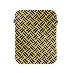 Woven2 Black Marble & Yellow Watercolor Apple Ipad 2/3/4 Protective Soft Cases by trendistuff