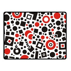 Square Objects Future Modern Fleece Blanket (small)