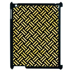 Woven2 Black Marble & Yellow Watercolor (r) Apple Ipad 2 Case (black) by trendistuff