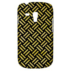 Woven2 Black Marble & Yellow Watercolor (r) Galaxy S3 Mini by trendistuff