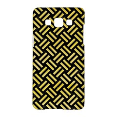 Woven2 Black Marble & Yellow Watercolor (r) Samsung Galaxy A5 Hardshell Case  by trendistuff