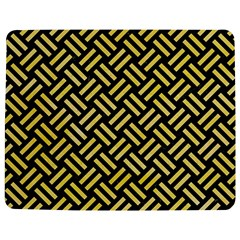 Woven2 Black Marble & Yellow Watercolor (r) Jigsaw Puzzle Photo Stand (rectangular) by trendistuff