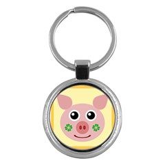 Luck Lucky Pig Pig Lucky Charm Key Chains (round)  by Celenk