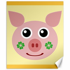 Luck Lucky Pig Pig Lucky Charm Canvas 8  X 10  by Celenk