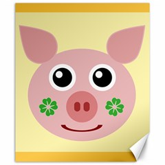 Luck Lucky Pig Pig Lucky Charm Canvas 20  X 24   by Celenk