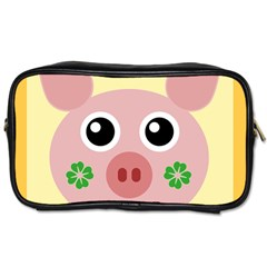 Luck Lucky Pig Pig Lucky Charm Toiletries Bags 2 Side by Celenk