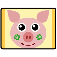 Luck Lucky Pig Pig Lucky Charm Fleece Blanket (large)  by Celenk