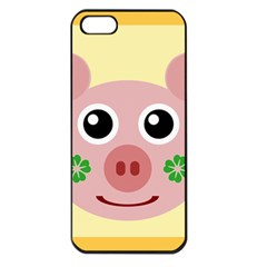 Luck Lucky Pig Pig Lucky Charm Apple Iphone 5 Seamless Case (black) by Celenk