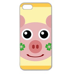 Luck Lucky Pig Pig Lucky Charm Apple Seamless Iphone 5 Case (clear) by Celenk