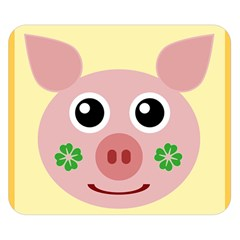Luck Lucky Pig Pig Lucky Charm Double Sided Flano Blanket (small)  by Celenk