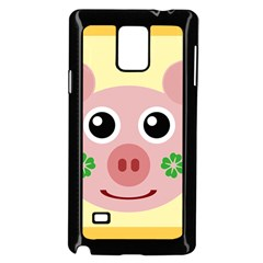 Luck Lucky Pig Pig Lucky Charm Samsung Galaxy Note 4 Case (black) by Celenk