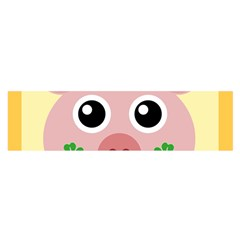Luck Lucky Pig Pig Lucky Charm Satin Scarf (oblong) by Celenk