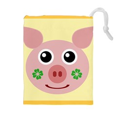 Luck Lucky Pig Pig Lucky Charm Drawstring Pouches (extra Large) by Celenk