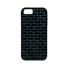 Brick1 Black Marble & Teal Leather (r) Apple Iphone 5 Classic Hardshell Case (pc+silicone) by trendistuff