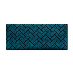 Brick2 Black Marble & Teal Leather Cosmetic Storage Cases by trendistuff