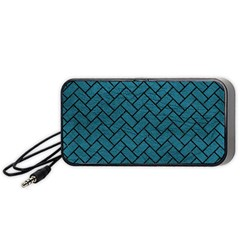 Brick2 Black Marble & Teal Leather Portable Speaker by trendistuff