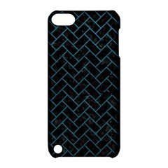 Brick2 Black Marble & Teal Leather (r) Apple Ipod Touch 5 Hardshell Case With Stand by trendistuff