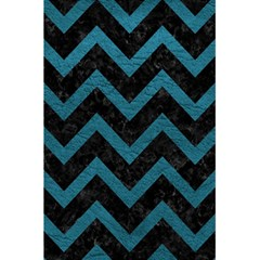Chevron9 Black Marble & Teal Leather (r) 5 5  X 8 5  Notebooks by trendistuff