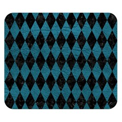 Diamond1 Black Marble & Teal Leather Double Sided Flano Blanket (small)  by trendistuff