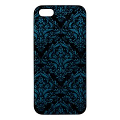 Damask1 Black Marble & Teal Leather (r) Iphone 5s/ Se Premium Hardshell Case by trendistuff