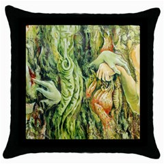 Chung Chao Yi Automatic Drawing Throw Pillow Case (black) by Celenk