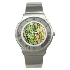 Chung Chao Yi Automatic Drawing Stainless Steel Watch by Celenk