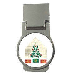 Christmas Tree Present House Star Money Clips (round)  by Celenk