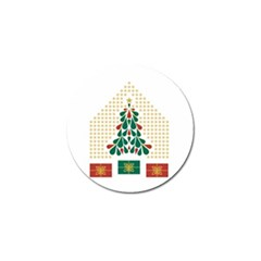 Christmas Tree Present House Star Golf Ball Marker