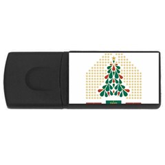 Christmas Tree Present House Star Rectangular Usb Flash Drive