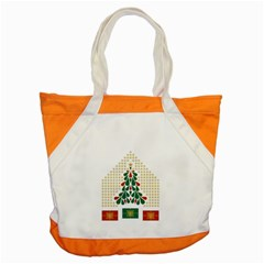 Christmas Tree Present House Star Accent Tote Bag