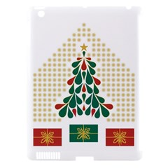 Christmas Tree Present House Star Apple Ipad 3/4 Hardshell Case (compatible With Smart Cover) by Celenk