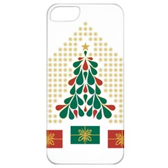 Christmas Tree Present House Star Apple Iphone 5 Classic Hardshell Case by Celenk