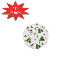 Christmas Santa Claus Decoration 1  Mini Buttons (10 Pack)  by Celenk