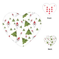 Christmas Santa Claus Decoration Playing Cards (heart)  by Celenk