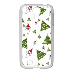 Christmas Santa Claus Decoration Samsung Galaxy S4 I9500/ I9505 Case (white) by Celenk