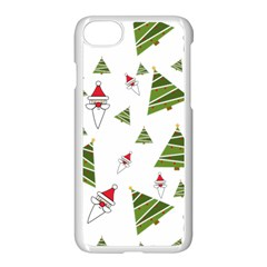 Christmas Santa Claus Decoration Apple Iphone 7 Seamless Case (white) by Celenk