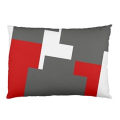 Cross Abstract Shape Line Pillow Case (two Sides)