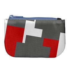 Cross Abstract Shape Line Large Coin Purse