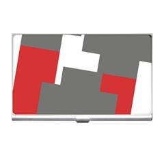 Cross Abstract Shape Line Business Card Holders by Celenk