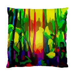 Abstract Vibrant Colour Botany Standard Cushion Case (one Side)