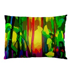 Abstract Vibrant Colour Botany Pillow Case