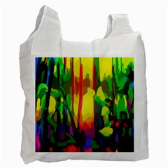 Abstract Vibrant Colour Botany Recycle Bag (two Side)